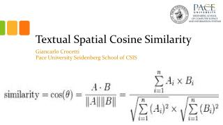 Textual Spatial Cosine Similarity