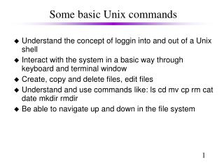 Some basic Unix commands