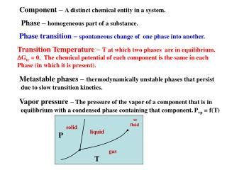 Phase �  homogeneous part of a  substance.