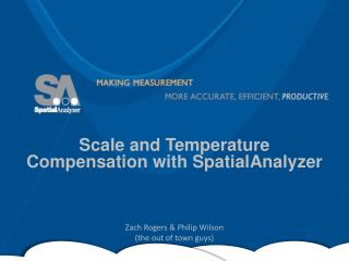 Scale and Temperature Compensation with SpatialAnalyzer