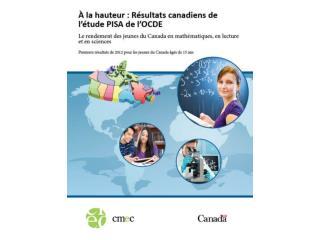 R�sultats du Canada