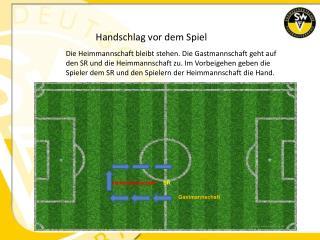 Handschlag vor dem Spiel