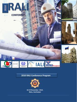 2010  RALI Conference Program
