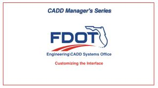 CADD Manager's Series