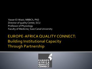 EUROPE-AFRICA QUALITY CONNECT: Building Institutional Capacity Through Partnership
