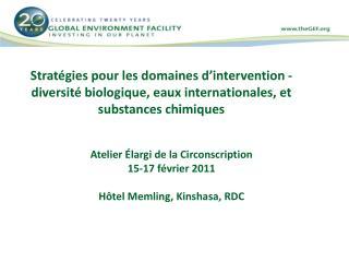 Atelier Élargi de la Circonscription 15-17  février  2011 Hôtel  Memling, Kinshasa, RDC