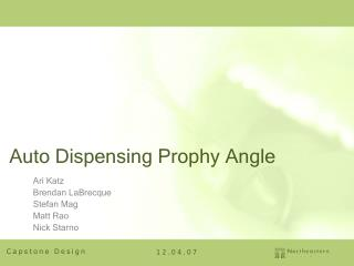 Auto Dispensing Prophy Angle