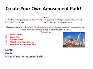 Create Your Own Amusement Park!