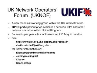 UK Network Operators' Forum  (UKNOF)