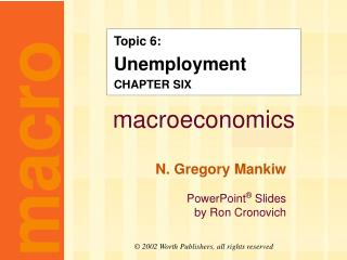 Topic 6: Unemployment CHAPTER SIX