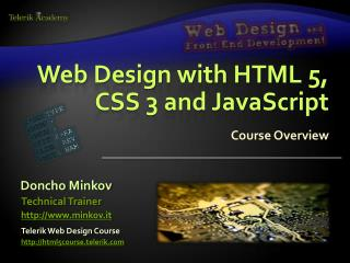 Web Design with HTML 5, CSS 3 and JavaScript