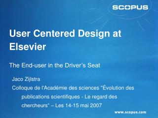 User Centered Design at Elsevier