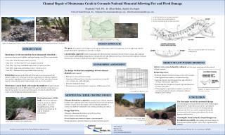 Channel Repair of Montezuma Creek in Coronado National Memorial following Fire and Flood Damage