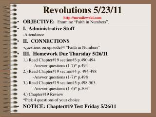 Revolutions 5/23/11 mrmilewski