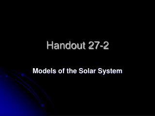Handout 27-2