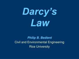 Darcy�s  Law