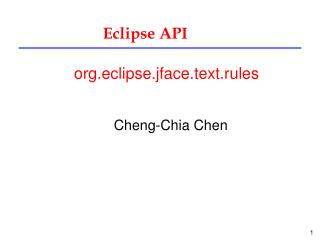 Eclipse API