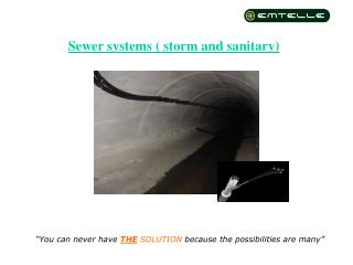 Sewer systems ( storm and sanitary)