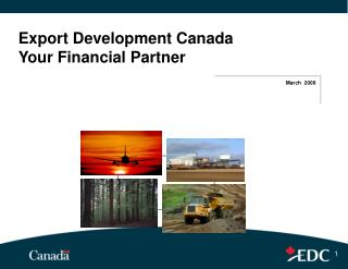 Export Development Canada Your Financial Partner