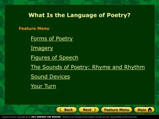 What Is the Language of Poetry?