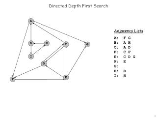 Directed Depth First Search