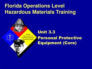 Unit 3.3 Personal Protective Equipment (Core)