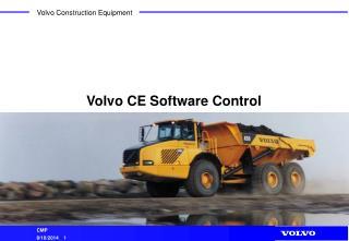 Volvo CE Software Control
