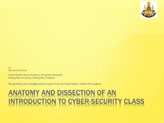 Anatomy and dissection of an Introduction to Cyber-Security Class