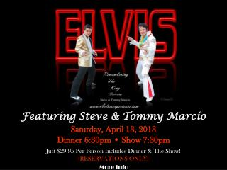 Featuring Steve & Tommy Marcio