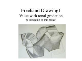 Freehand Drawing1 Value with tonal gradation (no smudging on this project)