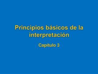 Principios básicos de la interpretación