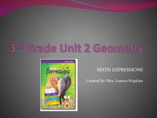 3 rd  Grade Unit 2 Geometry