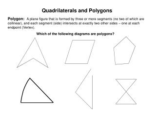Quadrilaterals and Polygons