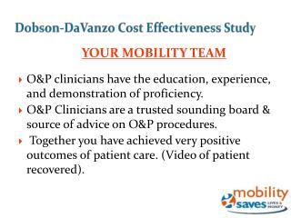 Dobson- DaVanzo  Cost Effectiveness Study