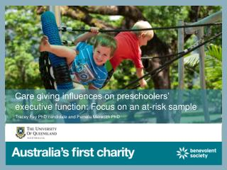 Care giving influences on preschoolers' executive function: Focus on an at-risk sample