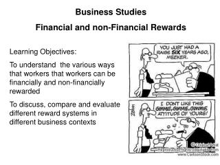 Business Studies   Financial and non-Financial Rewards