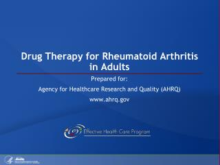 Drug Therapy for Rheumatoid Arthritis in Adults