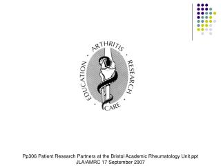 Patient Research Partners  at the Bristol Academic Rheumatology Unit