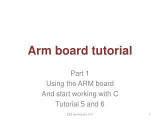 Arm board tutorial