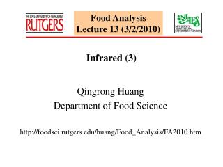 Food Analysis Lecture 13 (3/2/2010)