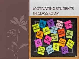 Motivating students in classroom
