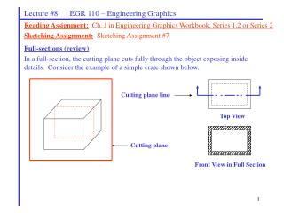 Lecture #8      EGR 110 – Engineering Graphics