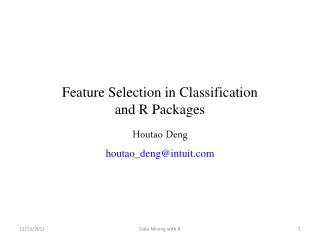 Feature Selection in Classification and R Packages