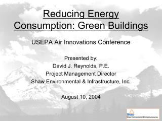 Reducing Energy Consumption: Green Buildings