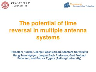 The potential of time reversal in multiple antenna systems