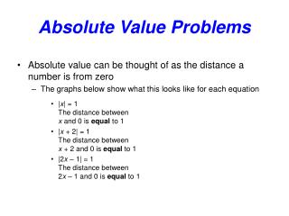 Absolute Value Problems