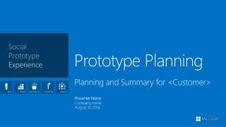 Prototype Planning