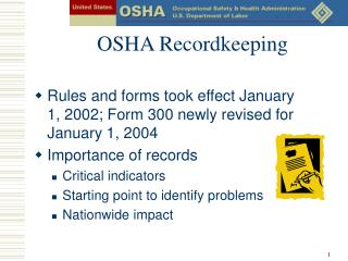 OSHA Recordkeeping