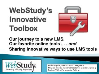 WebStudy's Innovative  Toolbox