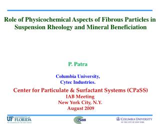 Role of Physicochemical Aspects of Fibrous Particles in